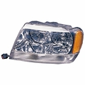 Left Side Headlight, 1999-04 Jeep Grand Cherokee Limited