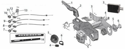1968-86 Jeep CJ5, CJ7 Heater System Parts