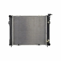 Radiator, Jeep Grand Cherokee (1993-1997) w/ 8 cyl engine. Inlet 1-1/2; Outlet 1-3/4 Core Size: 22-1/8 x 19-3/8; 2 Rows