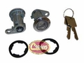 Door Cylinder Kit, fits 1976-84 Jeep CJ, 1987-90 Wrangler YJ w/ Full Doors, 1984-90 Cherokee XJ, ( Kit Includes 2 Cylinders w/ Keys)