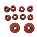 Prothane Front Spring & Shackle Bushing Kit for Jeep 1976-86 CJ, RED