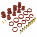 Prothane Control Arm Bushing Kit for Jeep 1997-06 WRANGLER, fits all Upper & Lower Control Arms, RED