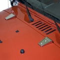 Hood Hinge Covers, Stainless Steel, 07-17 Jeep Wrangler by Rugged Ridge
