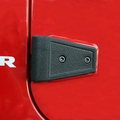 Door Hinge Cover Kit, Textured Black, 07-17 Jeep Wrangler by Rugged Ridge