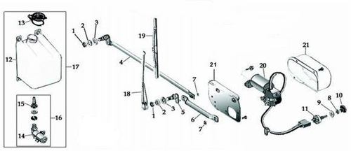 Jeep Windshield Wipers and Parts for 1968-1986 Jeep CJ Models