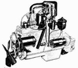 Willys Jeep Engine Parts for 1950-64 L6-226 Super Hurricane 6 Cylinder