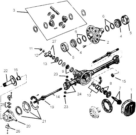 Frontaxle on 1995 jeep wrangler steering column diagram