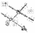 Rear Axle Dana 23-2 1941-1945 Jeep MB, Ford GPW (Full Floating Axles)