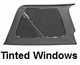XHD Soft Top, Black, Tinted Window, 97-06 Jeep Wrangler by Rugged Ridge