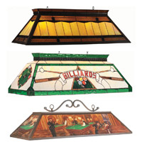 Long Stained Glass Pool Table Lights