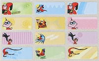The Incredibles Mini Labels