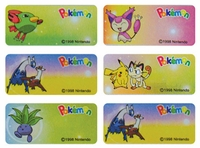 Pokémon Regular Size Labels