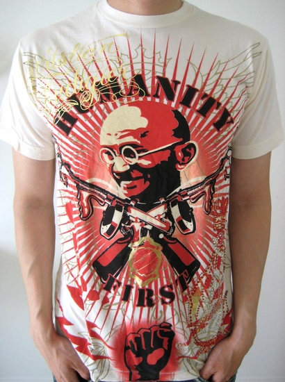 Christian Audigier Humanity Tee shirt  in off white