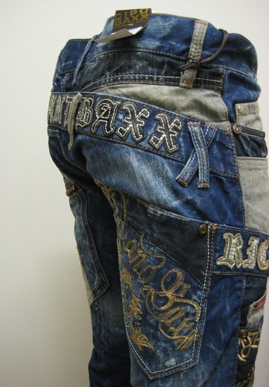 Cipo & Baxx Denim Jeans with Embroidered and Patch details