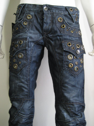 Cipo & Baxx Coated Metal Ring Denim Jeans