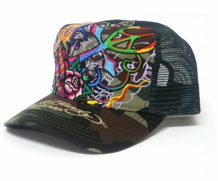 Ed Hardy by Christian Audigier TRUE LOVE Trucker Hat Cap in Camo