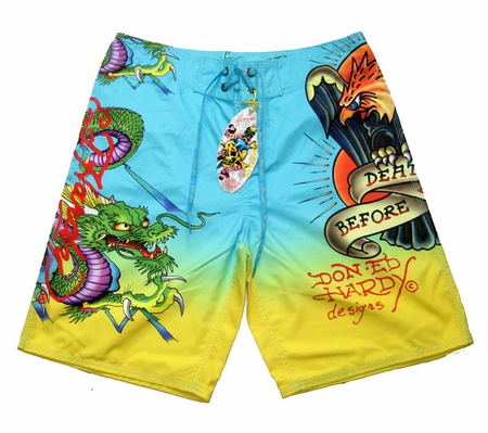 "Ed Hardy by Christian Audigier ""DRAGON EAGLE"" Mens Board Shorts Swimwear"