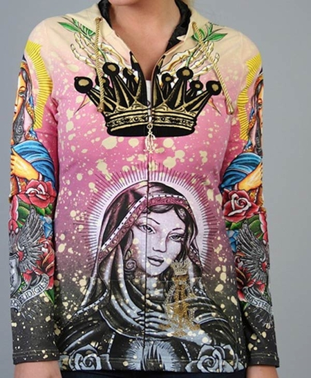 """<font color=""""#FF0000"""" face=""""Arial Black"""" size=""""4""""><b>HOT SALE</b></font>Ed Hardy by Christian Audigier women """"MOTHER MARY """"Hoodie $248"""