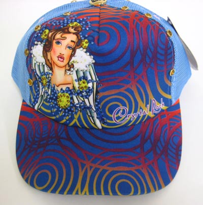 "Chrystal Rock By Christian Audigier ""Angel"" Hat"