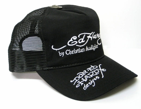 "<font color=""#FF0000"" face=""Arial Black"" size=""4""><b>today only</b></font> Ed Hardy SIGNATURE Hat Cap in Black / White"