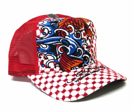 Ed Hardy by Christian Audigier KOI SPECIALTY CAP in RED