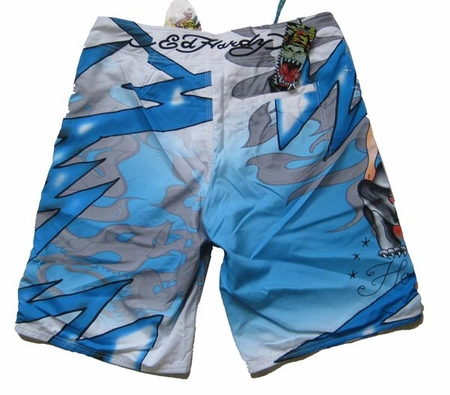 "Ed Hardy by Christian Audigier ""HOLLYWOOD GIRL"" Mens Swim Trunk Board Shorts"