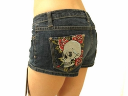 Ed Hardy by Christian Audigier SKULL BEACH SHORTS
