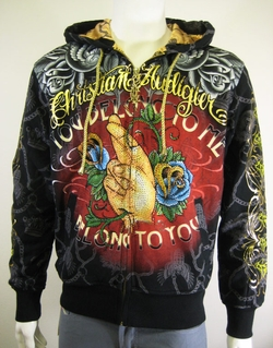 Christian Audigier Men Platinum Hoodie