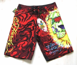 "Ed Hardy by Christian Audigier ""Migraine"" Mens Boardshorts Swimwear"