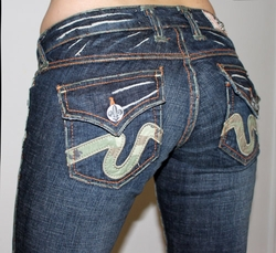 Women Laguna Beach Jeans in camo