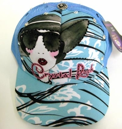 "Chrystal Rock By Christian Audigier ""CELEBRITY"" Hat in blue"