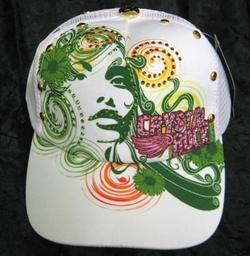 "Chrystal Rock By Christian Audigier ""SUN Shine "" Hat in white"