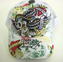 "Ed Hardy by Christian Audigier ""New York City"" Rhinestone in White"