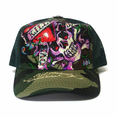 Ed Hardy by Christian Audigier LOVE KILLS SLOWLY in Camo / Green