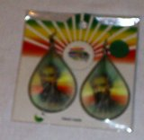 Rasta Emperor Haile Selassie I Earrings