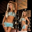 Electric Lingerie (CL107-TLQ) 3Pc. Fishnet Set Includes Thong, Tube Top & Mini Skirt, One Size