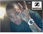 Chris Brown Rockin His Custom Diamond G-Shock By ZShock