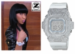 Nicki Minaj Rocking Her Diamond Baby G-Shock by ZSHOCK