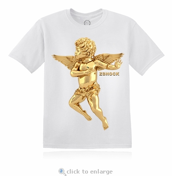 Gold Angel Of Virtue White T-Shirt