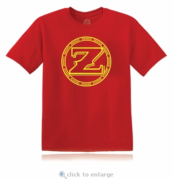 ZShock Icon Logo T-Shirt Red With Yellow