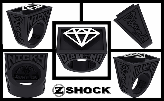 ZShock X Diamond Supply Co. Custom Punch Ring