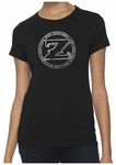 Ladies ZShock Icon Logo T-Shirt Black And Silver