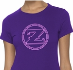 Ladies ZShock Icon Logo T-Shirt Purple And Pink