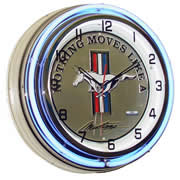 "18"" Ford Mustang Neon Clock with Pony Emblem"