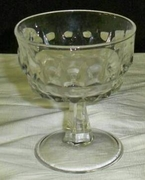 Cut Glass Champagne Glass - Coupe Style