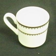 Gold Rim Coffee Cup & Saucer Set