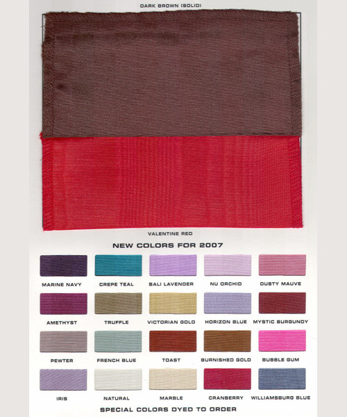 Bengaline Table Linen Color Choices: Page 2
