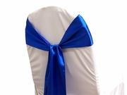 Sash Satin Royal Blue