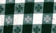 Green and White Square Pattern