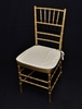 Gold Chavairi Chair with Cushion